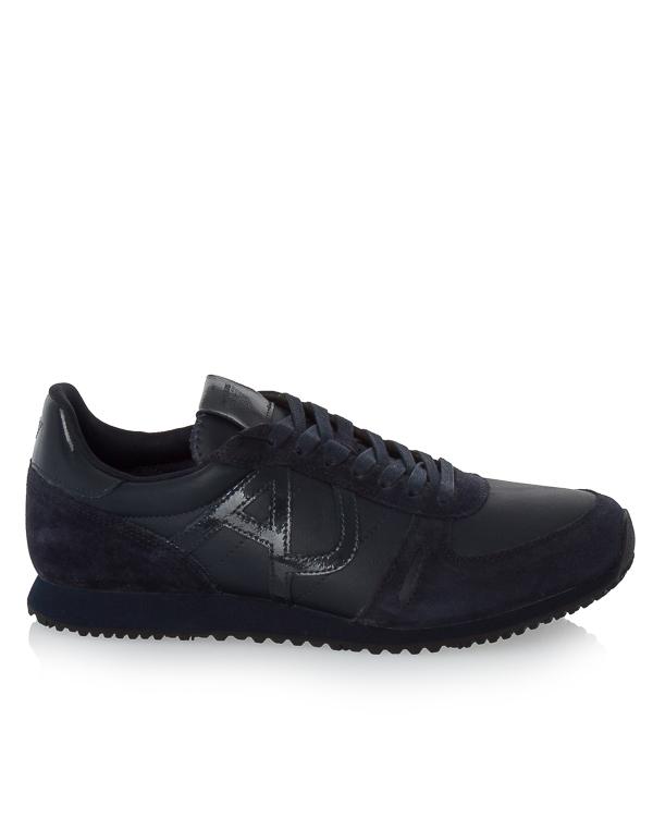 кроссовки из плотной кожи с логотипом бренда  артикул 935027 марки ARMANI JEANS купить за 8100 руб.