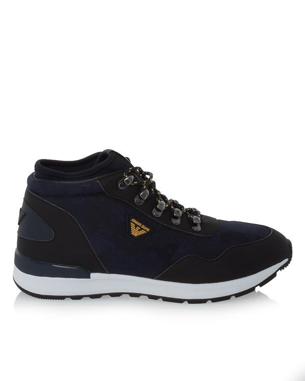кроссовки из замши на контрастной подошве артикул 935125 марки ARMANI JEANS купить за 9500 руб.