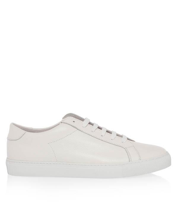 Eleventy из белой кожи на шнуровке артикул 979SR0146 марки Eleventy купить за 9600 руб.