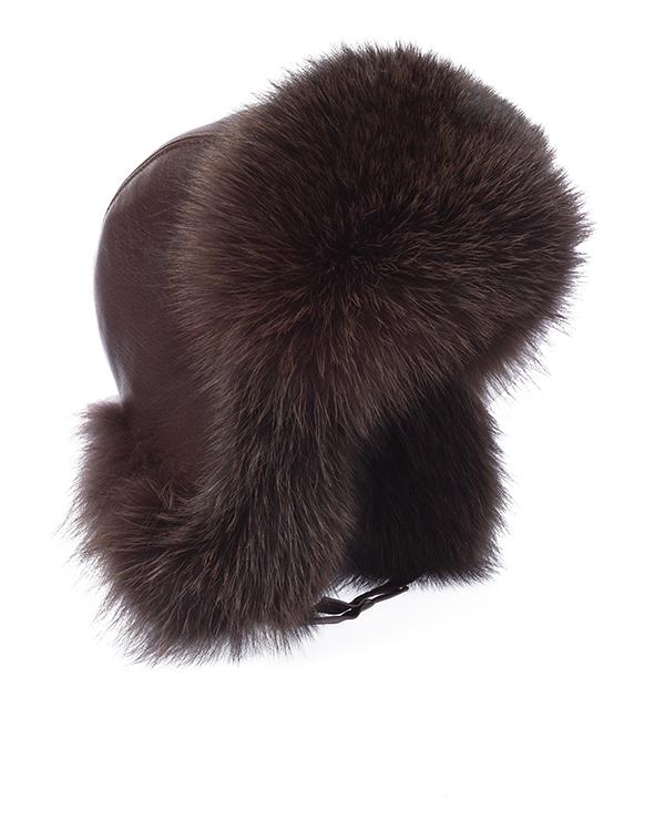 Kaminsky -ушанка из кожи с меховой отделкой артикул  марки Kaminsky купить за 12000 руб.