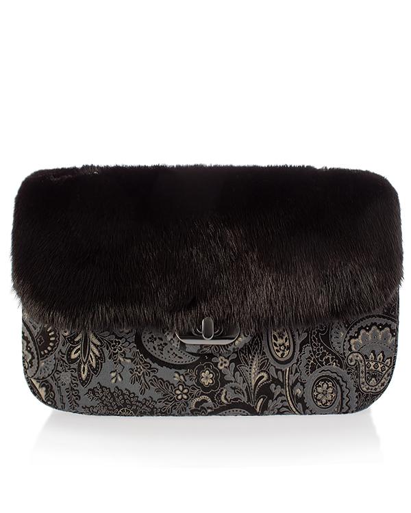 Kaminsky -клатч из кожи с мехом норки артикул  марки Kaminsky купить за 16000 руб.