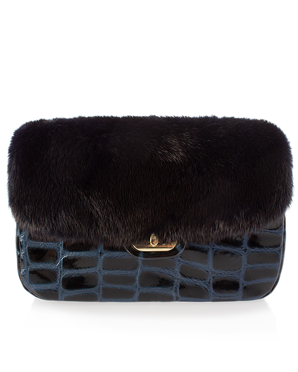 Kaminsky -клатч из кожи и меха норки артикул  марки Kaminsky купить за 14400 руб.