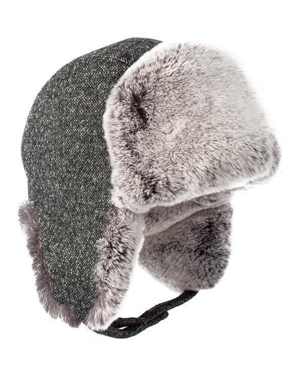 МКС ушанка с отделкой мехом кролика породы Рекс  артикул  марки МКС купить за 5600 руб.