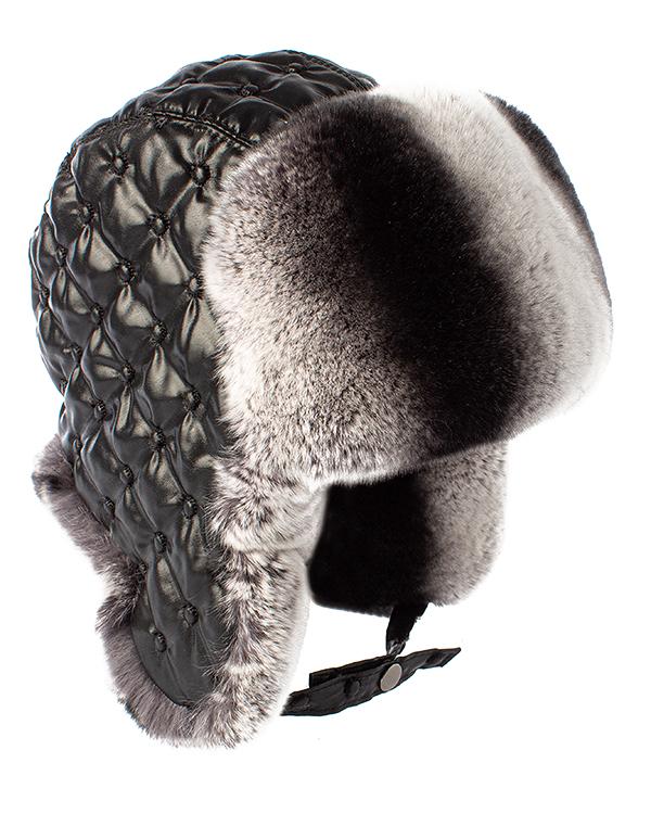 MKC ушанка с отделкой мехом кролика породы Рекс  артикул  марки МКС купить за 7000 руб.