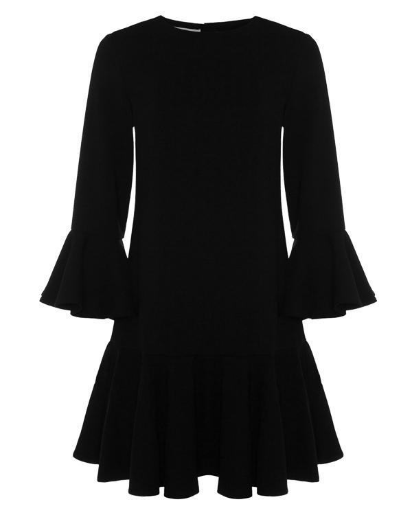 платье из шерсти с отделкой оборками артикул A762 марки DONDUP купить за 28100 руб.