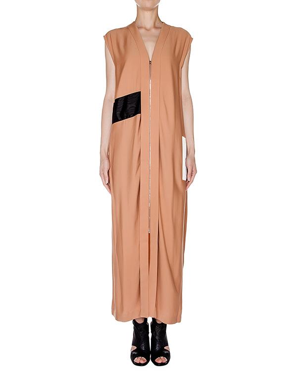 платье в пол из плотной вискозы с контрастной вставкой артикул AASS16DR08 марки AALTO купить за 31500 руб.