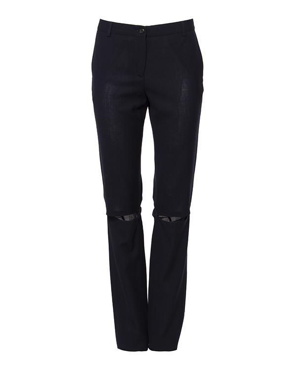 брюки прямого кроя из мягкой шерсти с прорезями на коленях артикул AASS16TRSH02 марки AALTO купить за 12300 руб.