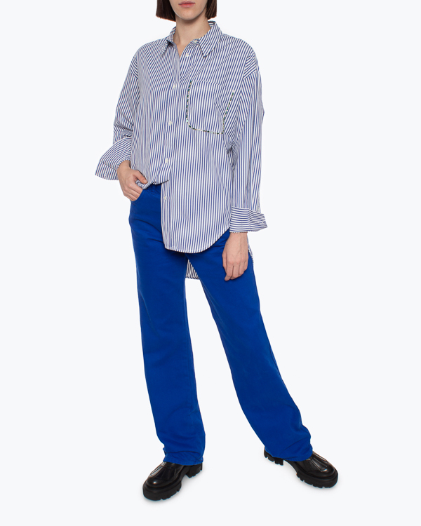 рубашка Essentiel AKITA1 s синий+белый1