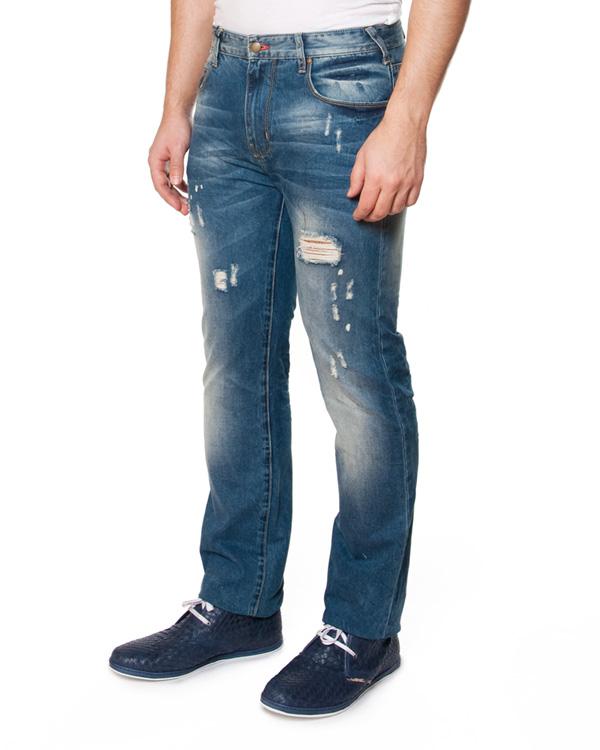 джинсы модели boot cut, со средней посадкой и искусственными потертостями артикул AMJ45 марки ARMANI JEANS купить за 7200 руб.