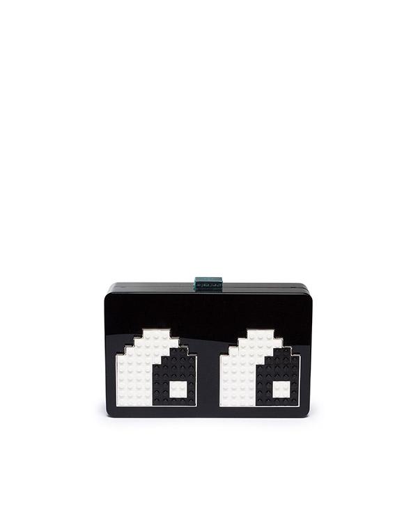 клатч из плексигласа, декорирован деталями Lego артикул ANDY-EYES марки Les petits joueurs купить за 24600 руб.