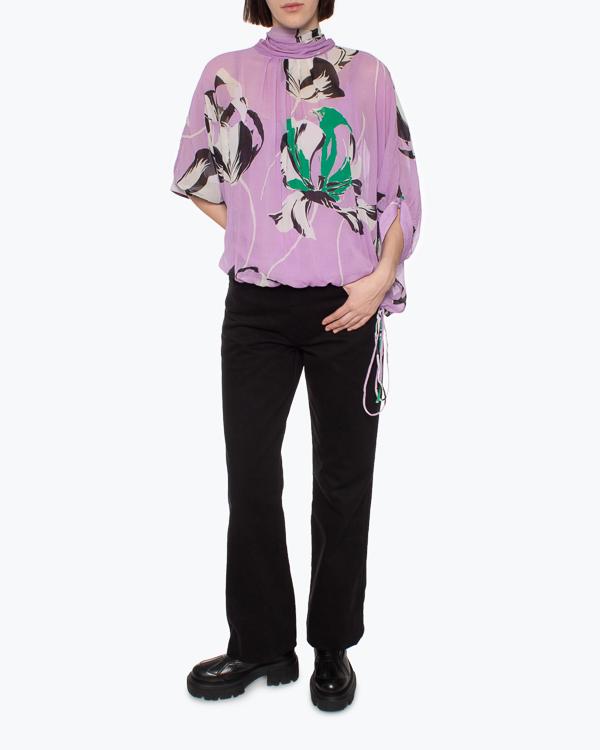 блуза Essentiel ARCHIVES m фиолетовый+принт1