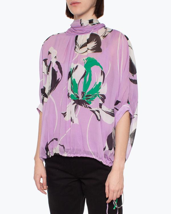 блуза Essentiel ARCHIVES m фиолетовый+принт2
