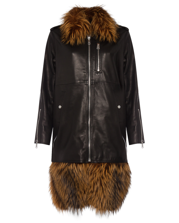 пальто из кожи со съемным мехом артикул AW17A1FLJ1 марки AALTO купить за 146300 руб.
