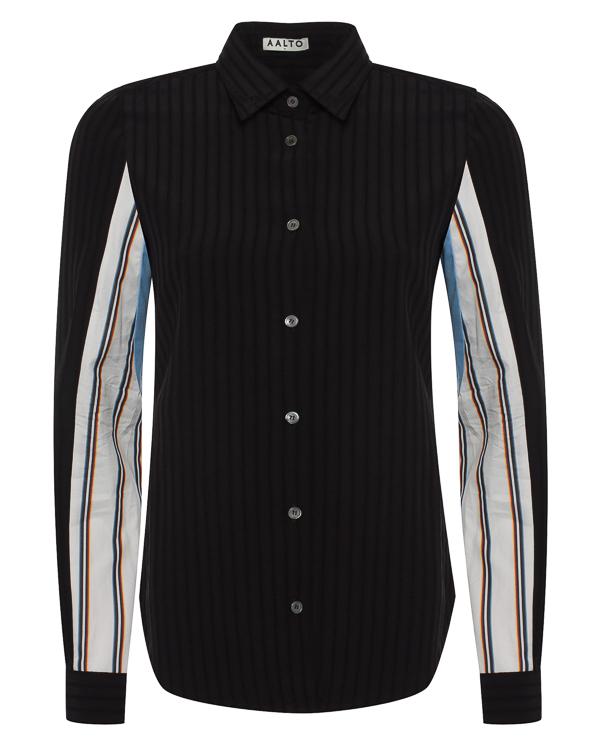 рубашка «с мужского плеча» из вискозы и шерсти артикул AW17A1SH4 марки AALTO купить за 17300 руб.