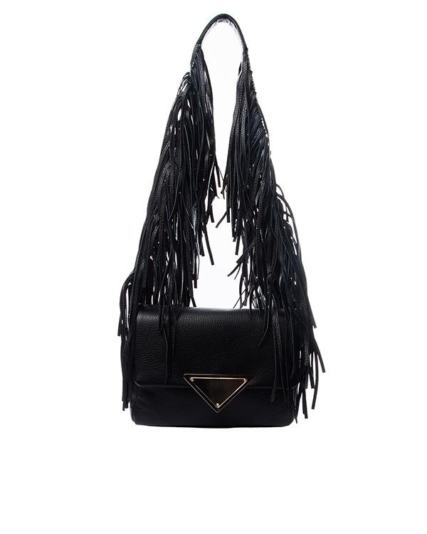 сумка из натуральной мягкой кожи, декорирована длинной бахромой артикул B088 марки Sara Battaglia купить за 44000 руб.