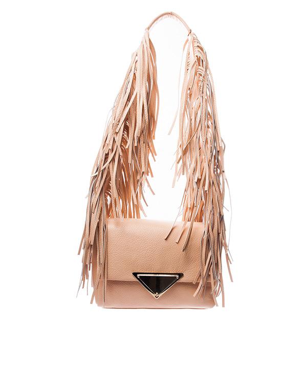 Sara Battaglia из натуральной мягкой кожи, декорирована длинной бахромой артикул  марки Sara Battaglia купить за 35200 руб.