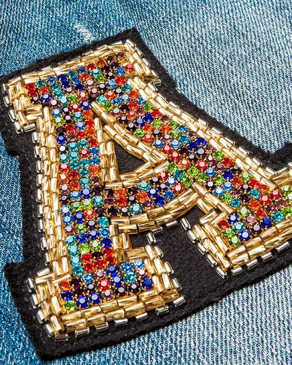 женская джинсы Amen, сезон: лето 2016. Купить за 16400 руб. | Фото $i