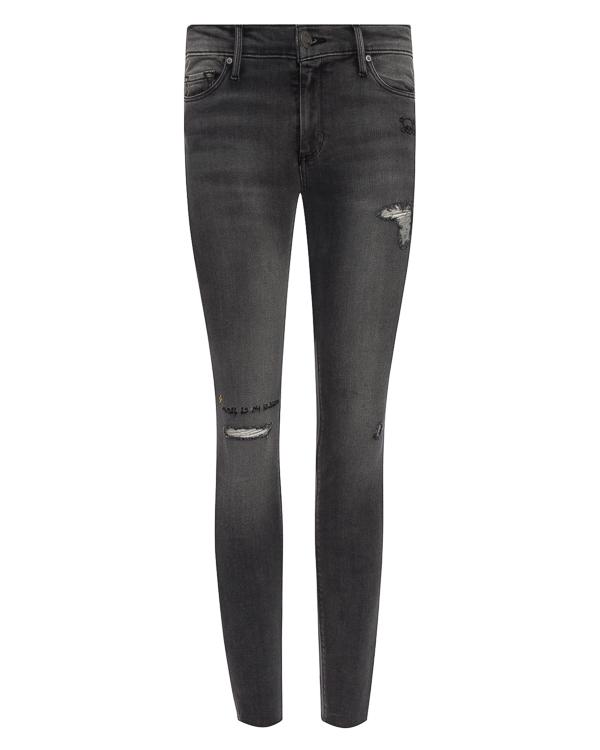 джинсы Skinny из эластичного денима с вышивкой артикул BO298RS2 марки Black Orchid купить за 19800 руб.
