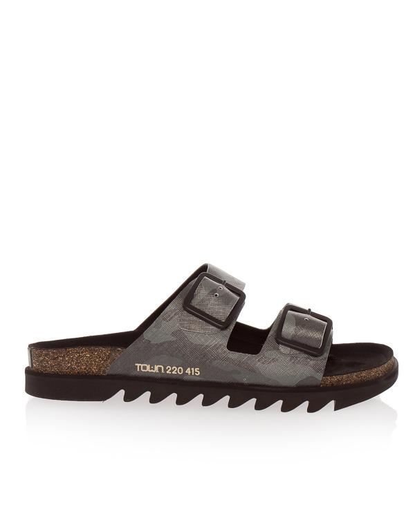 сандалии на пробковой подошве с ремешкамим  артикул BONDISAFFIANO марки TOWN купить за 13800 руб.
