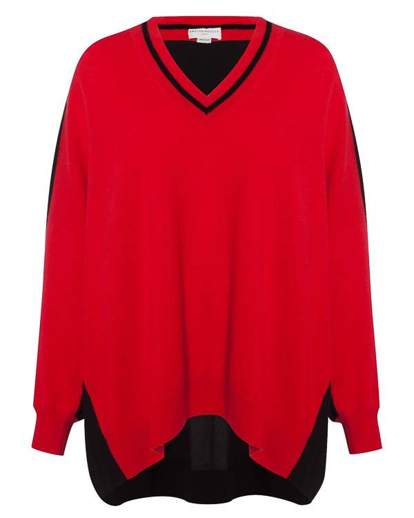 пуловер из кашемира с отделкой спины артикул C1542 марки Amanda Wakeley купить за 30000 руб.