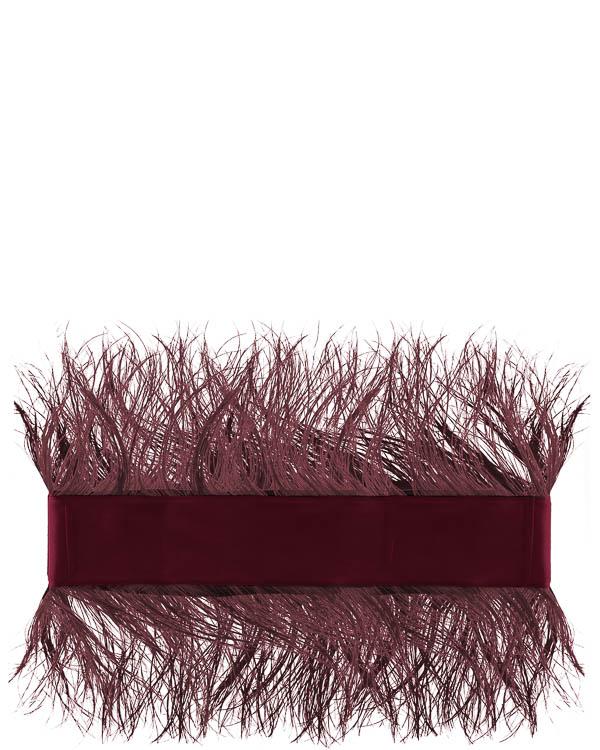 пояс из текстиля с отделкой перьями  артикул C7FW17C2 марки Sara Roka купить за 15800 руб.