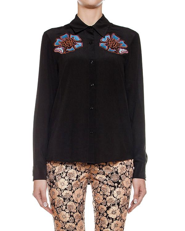 блуза из легкого шелка с вышивкой артикул CA6CA0402 марки Simona Corsellini купить за 14700 руб.
