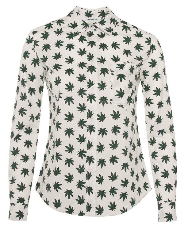 рубашка из хлопка с принтом артикул CARAMELLA380056X марки P.A.R.O.S.H. купить за 17400 руб.