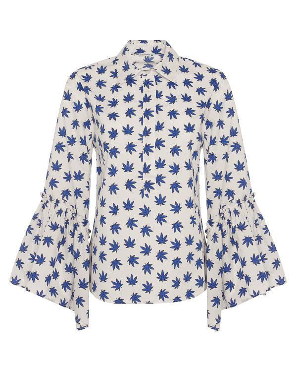 блуза из хлопка с принтом артикул CARAMELLA380098 марки P.A.R.O.S.H. купить за 22200 руб.