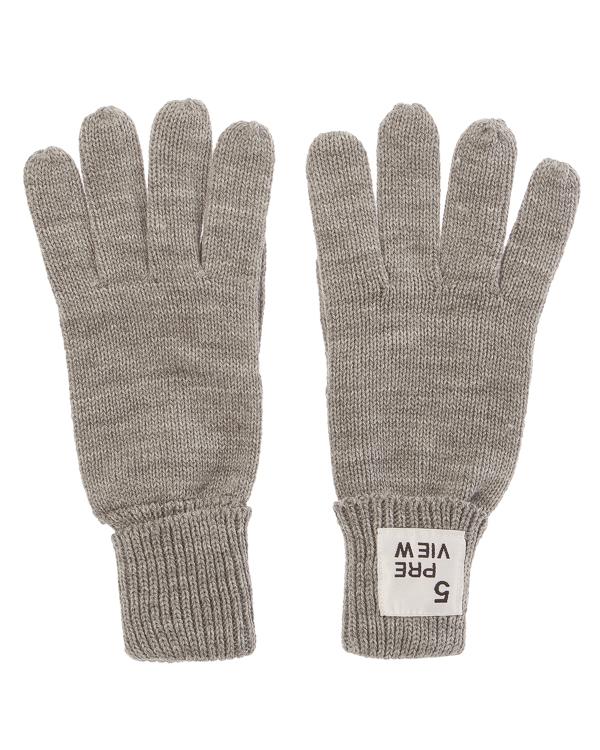 перчатки  с отворотами и логотипом бренда  артикул CAROLIN марки 5Preview купить за 2000 руб.