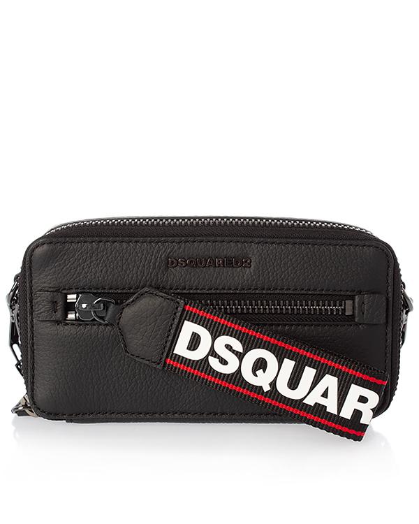DSQUARED2 из шагреневой кожи с брендированными деталями артикул  марки DSQUARED2 купить за 36600 руб.