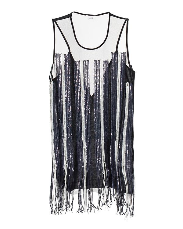 AVIU из полупрозрачной ткани, декорирован бахромой и пайетками артикул  марки AVIU купить за 5800 руб.