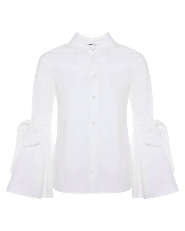 рубашка из хлопка с завязками на рукавах артикул CHIARA380101 марки P.A.R.O.S.H. купить за 20500 руб.