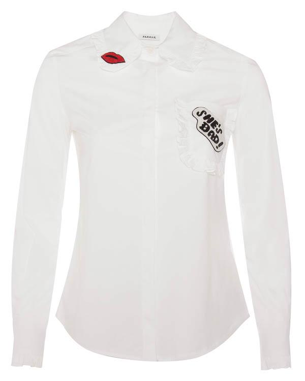 блуза из тонкого хлопка с отделкой бисером артикул CHIARA380108Z марки P.A.R.O.S.H. купить за 24100 руб.