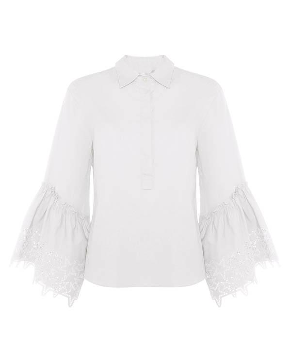 блуза из хлопка с вышивкой артикул CHIGO380112 марки P.A.R.O.S.H. купить за 21900 руб.