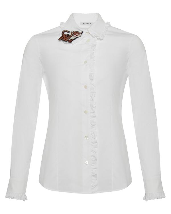 блуза приталенного силуэта из хлопка артикул CLAUS380093Z марки P.A.R.O.S.H. купить за 10900 руб.