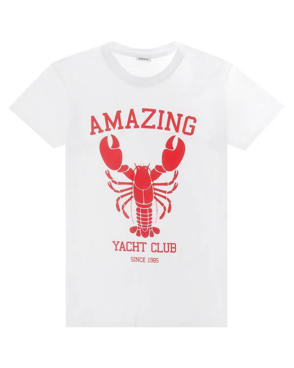 футболка из хлопка с принтом артикул COABSTER110022X марки P.A.R.O.S.H. купить за 5500 руб.
