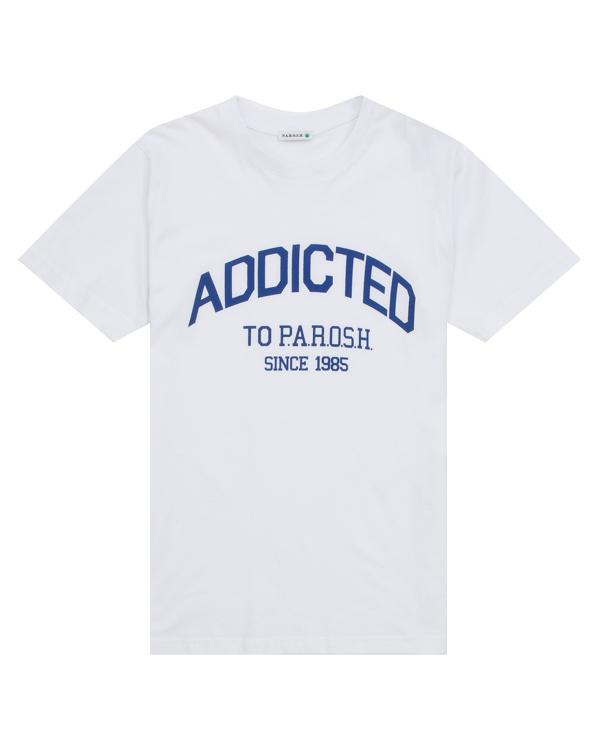 футболка из трикотажного хлопка с принтом артикул COADD110022X марки P.A.R.O.S.H. купить за 2200 руб.