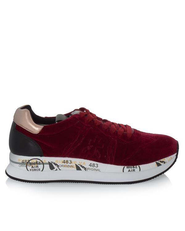 кроссовки Conny из бархата с кожаными вставками  артикул CONNY2581 марки Premiata sport купить за 20000 руб.