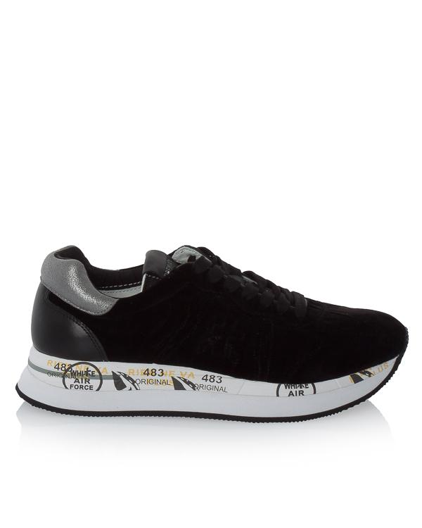 кроссовки Conny из бархата с кожаными вставками артикул CONNY2582 марки Premiata sport купить за 20000 руб.