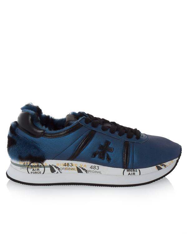 кроссовки Conny из металлизированной кожи с отделкой декоративным мехом  артикул CONNY2608 марки Premiata sport купить за 14900 руб.