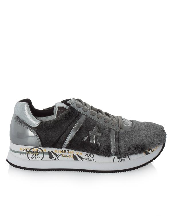 кроссовки Conny из кожи с отделкой декоративным мехом  артикул CONNY2609 марки Premiata sport купить за 15700 руб.