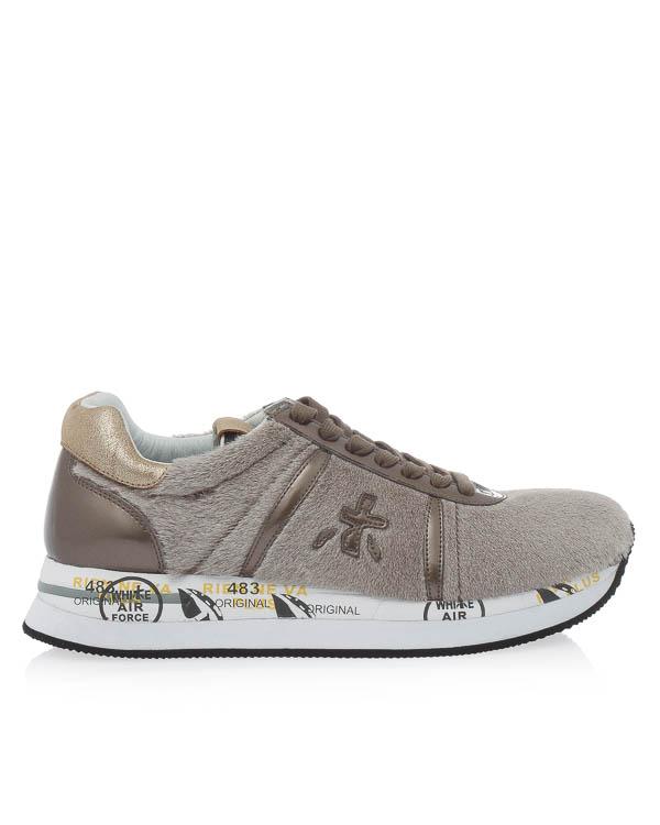 кроссовки Conny из кожи с отделкой декоративным мехом  артикул CONNY2612 марки Premiata sport купить за 14900 руб.