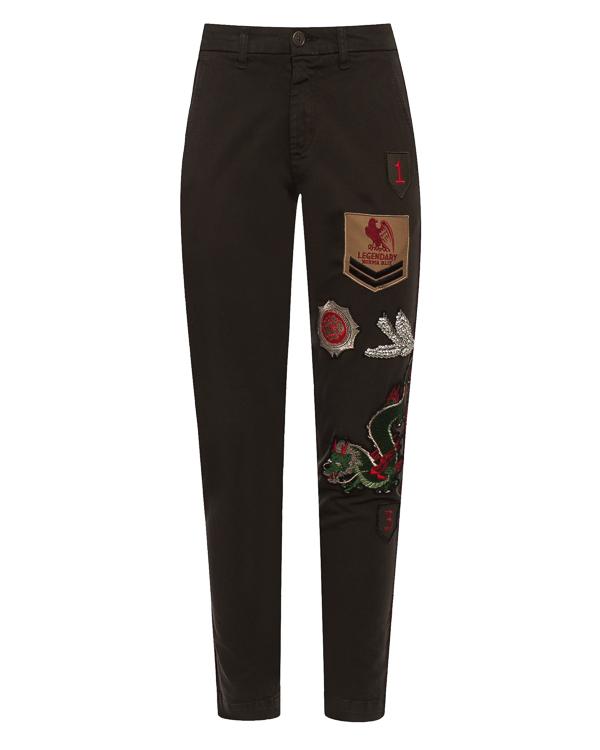 брюки  из хлопка с нашивками  артикул CORAX230132ZB марки P.A.R.O.S.H. купить за 17900 руб.