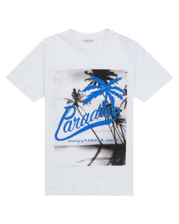 футболка из хлопка с принтом  артикул COSUN110022X марки P.A.R.O.S.H. купить за 2500 руб.