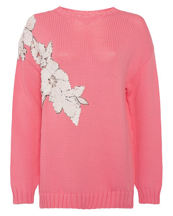 свитер из вязаного хлопка с аппликацией из пайеток  артикул COUNTING510204R марки P.A.R.O.S.H. купить за 36200 руб.