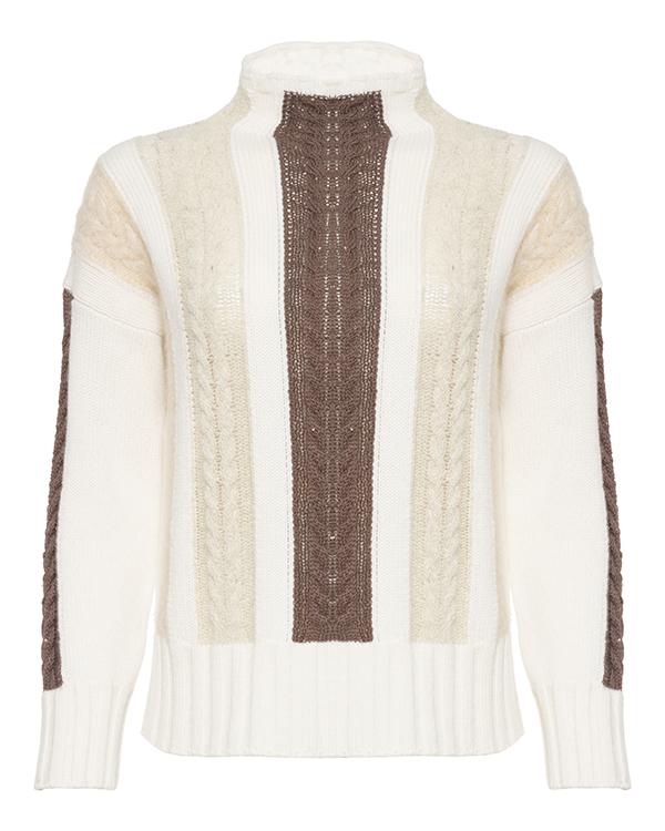 свитер PANICALE D27709CV 44 молочный+коричневый