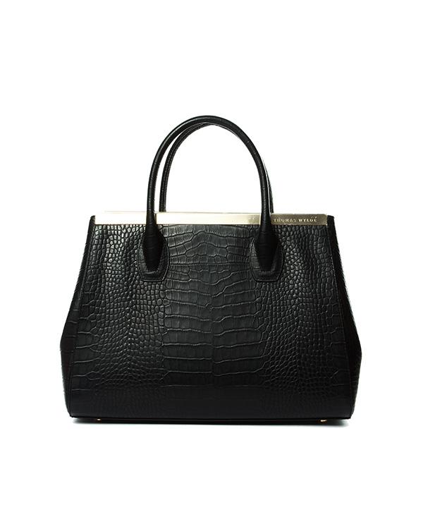 сумка из натуральной кожи с тиснением под рептилию артикул D2LBG01-A марки Thomas Wylde купить за 57600 руб.