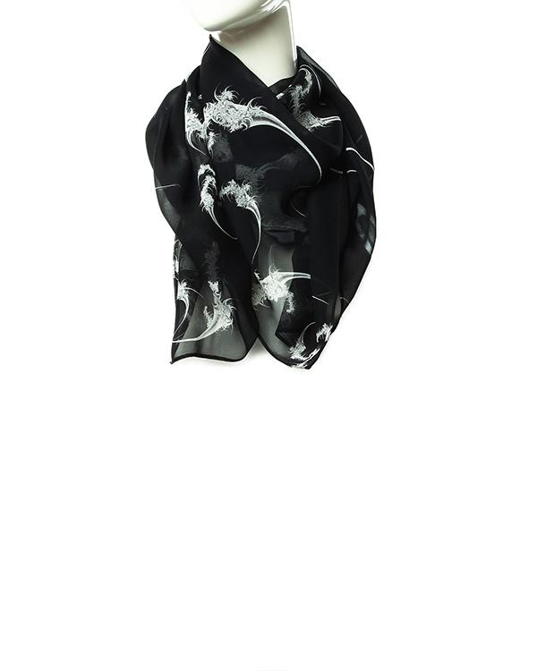 шарф из легкого полупрозрачного шелка с контрастным рисунком артикул D2SCF01 марки Thomas Wylde купить за 5900 руб.