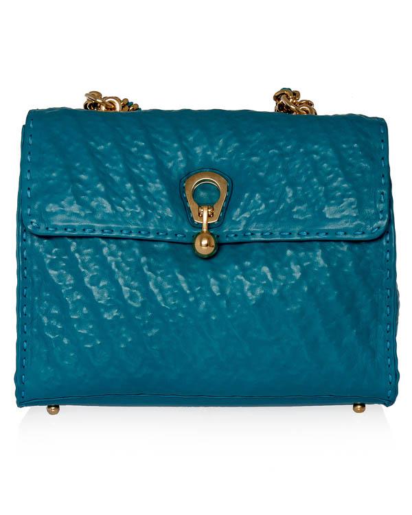 сумка из жатой кожи с металлической фурнитурой  артикул D323S303FNA марки ERMANNO SCERVINO купить за 76200 руб.