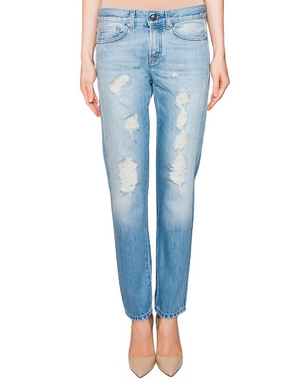 джинсы прямого кроя с потертостями артикул DEYOPY230029 марки P.A.R.O.S.H. купить за 11800 руб.